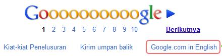 Google.com in English