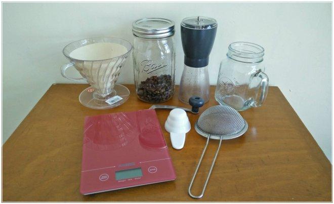 Alat dan bahan cold brew coffee